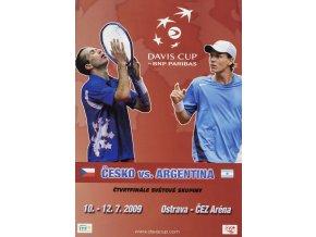 Program, ČR v. Argentina, Davis Cup, 2009