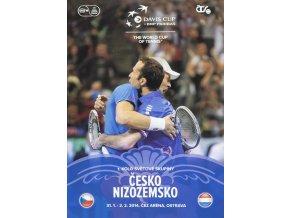 Official Program Davis Cup, CZ v. Nizozemsko, 2014