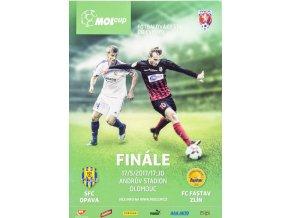 Program SFC Opava v. FC Zlín, finále poháru, 2017