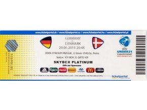 Vstupenka fotbal , UNDER21, Germany v. Denmark 2015