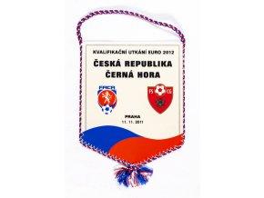 Vlaječka a plakát, Česká rep. v. Černá Hora, 2011 (1)