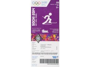 Vstupenka OG Sochi, 2014, Croos country