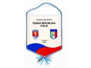 Vlaječka a plakát, Česká rep. v. Itálie, 2013 (1)