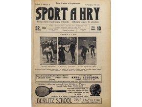 Noviny Sport a Hry, č. 52, Valná hromada ČS footballového, 1906