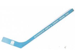 Hokejka mini suvenýr, MS 1985, hokej, modrá (1)