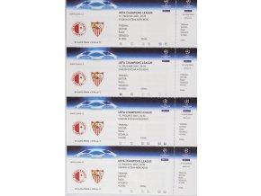 Arch vstupenek fotbal SK Slavia Prague vs. Sevilla FC, 2007
