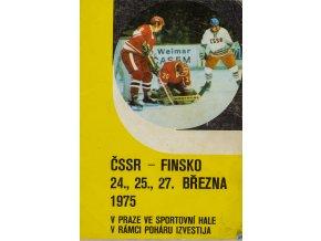 Program hokej ČSSR v. Finsko, 1975