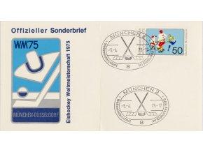 FDC hokej, WM 75, Munchen Dusseldorf, 1975