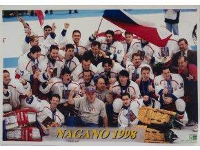 Foto velkeé hokej Česká republika, ZOH 1998, Nagano