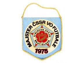 Klubová vlajka Majster ČSSR vo futbale, 1975 , Slovan Bratislava (1)