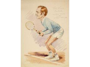 M. Niederle Karikatura Rod Laver