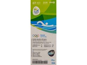 Vstupenka OG Rio 2016, Swimming, 07