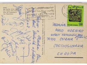 Pohlednice z Rabatu, Baník Ostrava, podpisy (1)