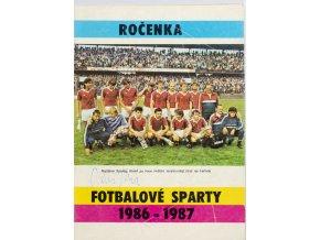 Ročenka fotbalové Sparty, 19861987