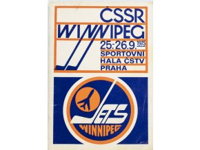 Program ČSSR vs. Winnipeg Jets, 1975 (1)