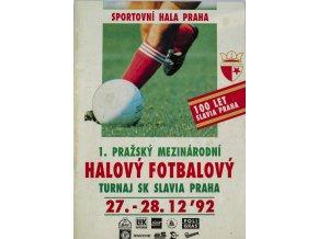 Program I. mezinárodní halový fotbalový turnaj SK Slavia Praha, 1992