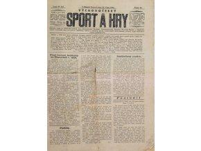Noviny Sport a Hry, č. 441923, Východočeský