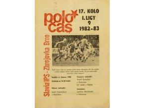 Poločas, Slavia IPS v. Zbrojovka Brno, 1982 83