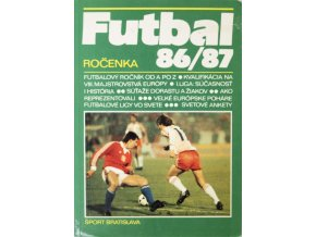 Kniha Futbal 86 87