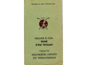 Hokej, IIHF, Official Rule Book, 1972 75 Edition
