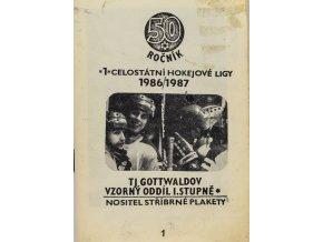 Hokejový zápisník 19861987 TJ Gottwaldov, 50. výročí