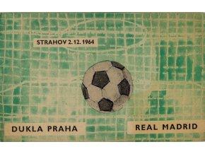 Program Dukla Praha vs. Real Madrid, 1964 (1)