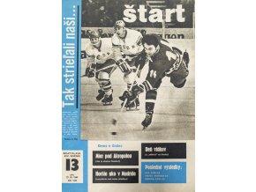 Časopis ŠTART, ročník XIV, 27. III. 1969, číslo 13