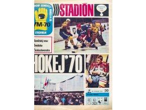 Časopis STADION, mimořádné číslo, Hokej, WM Stockholm, 1970 II