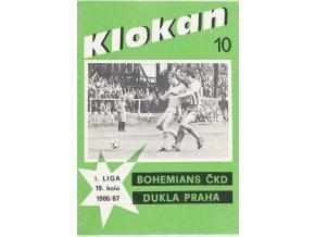 Program Klokan, S Bohemians vs. Dukla Praha, 198687