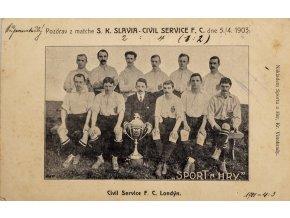 Dopiska, Pozdrav z Matche Sk Slavia v. Civil Service FC, 1903 (1)