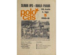 Poločas Slavia Praha vs. Dukla Praha, 19801981 (2)