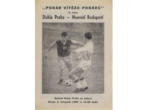 Program, PVP, Dukla Praha v. Honvéd Budapešť, 1965
