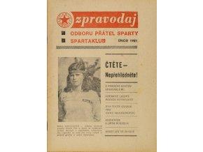 Zpravodaj Odboru přátel Sparty, Únor, 1981