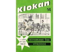 Program Klokan, S Bohemians vs. Vítkovice, 198687