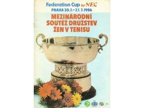 Program tennis Fedearion Cup, 1986 (1)