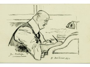 Pohlednice momentka ze schůze VII. sletu, BR. Prokop, 1920 (1)