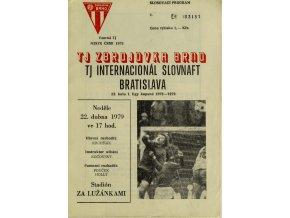 Program , Zbrojovka Brno v. Internacional Slovnaft Bratislava , 1979