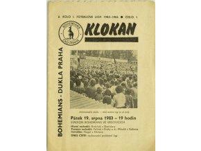 Program Klokan, S Bohemians vs. Dukla Praha, 198384