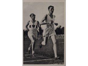 Kartička Olympia 1936, Berlin. Meister Syring 1