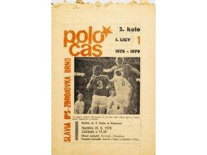 Poločas, Slavia IPS v. Zbrojovka Brno, 1978 79
