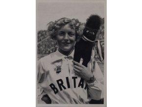 Kartička Olympia 1936, Berlin. Ruthley Moris Hanock 1