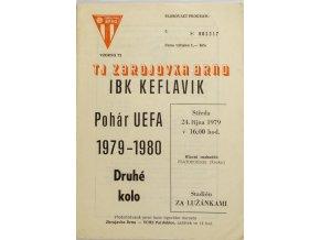 Program UEFA, Zbrojovka Brno v.IBK Keflavik, 1979 80