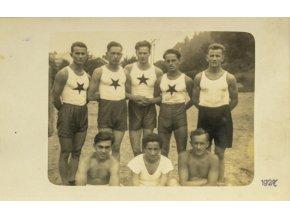 Dobová fotografie , Sportovci Slavie, 1927 (1)