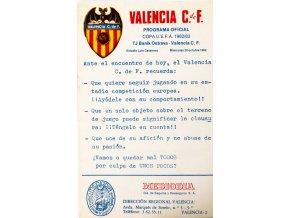 Prpgram, Valencia C. de F. v. Banik Ostrava, 1982 (1)