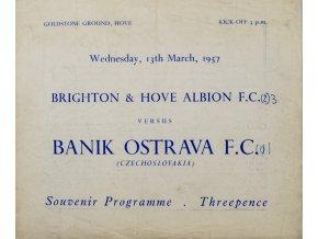 Program, Brighton, Hove Albion F.C. v. Banik Ostrava, 1957 (1)