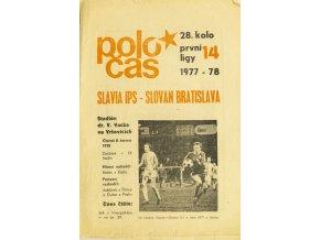 Poločas, Slavia Praha IPS vs. Slovan Bratislava 1977 78