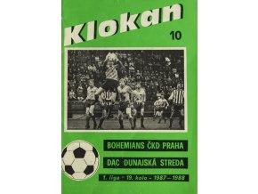 Program Klokan, Bohememians ČKD v. DAC Dunajská Streda, 198788
