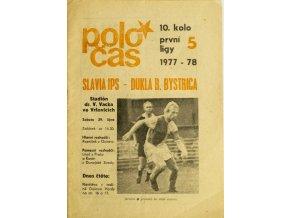Poločas Slavia vs. Bánská Bystrica 1977 78