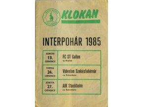 Program KLOKAN, Interpohár, Gallen, Szekesfehervar, AIK Stockholm, 1985
