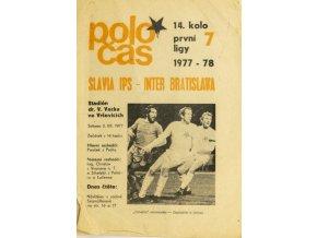 Poločas Slavia Praha IPS vs. Inter Bratislava 1977 78